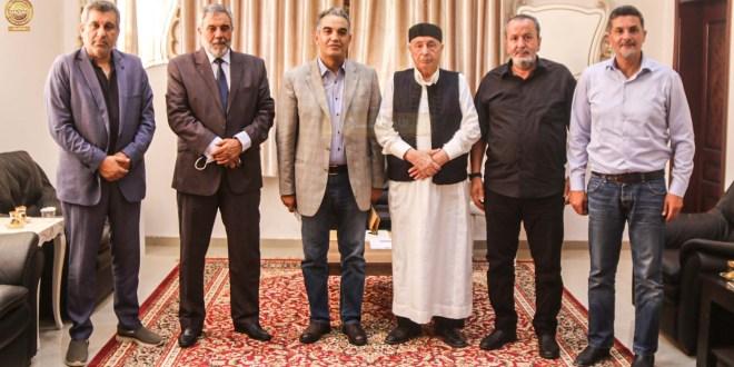 فخامة رئيس مجلس النواب يبحث مع رئيس الاتحاد الليبي لكرة القدم فرص وعوامل نجاح كرة القدم الليبية