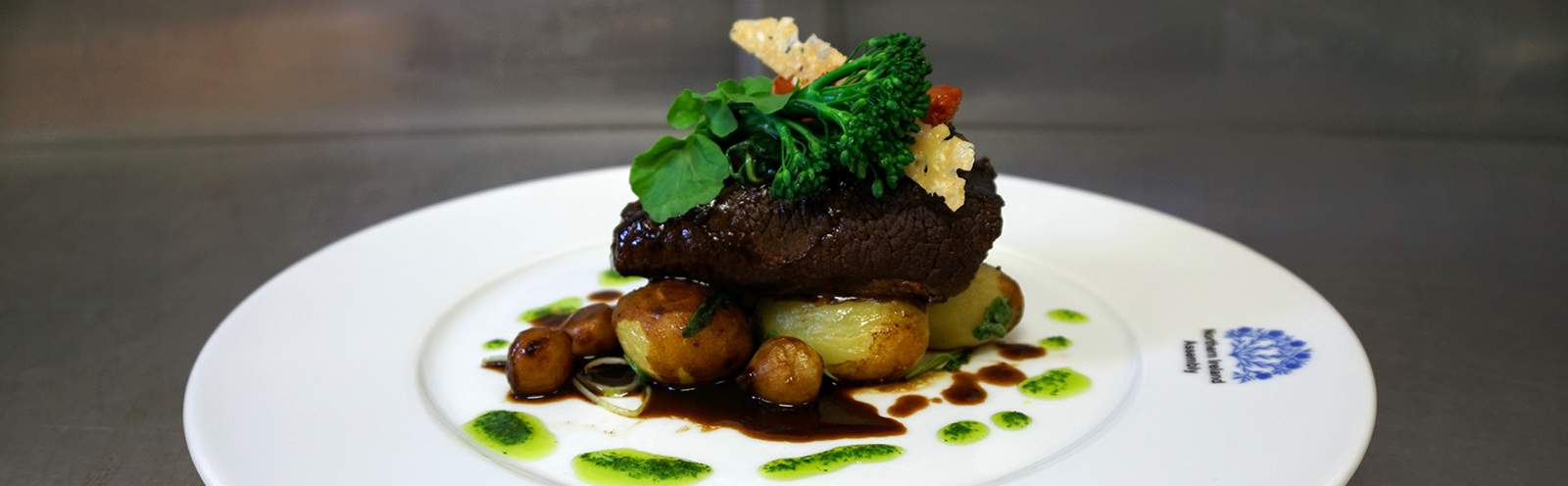 A beef dish in the Members' Dining Room