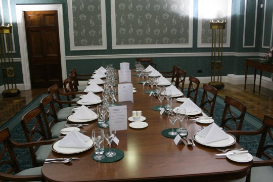 A table in the Private Dining Room