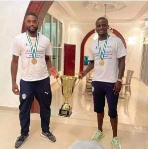 Alexandre Song et Dany Nounkeu, champions de Djibouti.