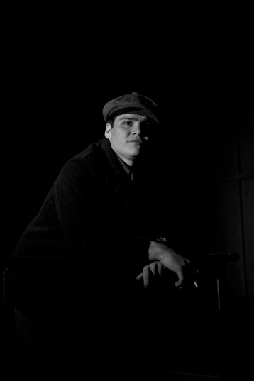 Robert Pike as Tom in Parlor Room Theater's production of Tennessee Williams' THE GLASS MENAGERIE