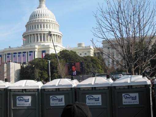 inauguration day port-a-potties
