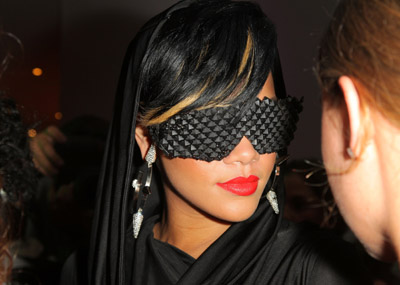 And here's RiRi...love her, but not those glasses. Hm...