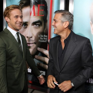 "Ryan Gosling and George Clooney at Columbia Pictures' Los Angeles Premiere of ""The Ides of March"""