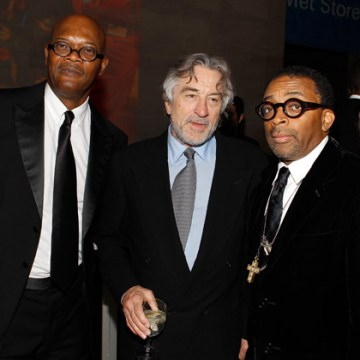 "Samuel L. Jackson, actor Robert De Niro, and director Spike Lee attend the Multicultural Benefit Gala to Celebrate ""An Evening of Many Cultures"" at the Met"