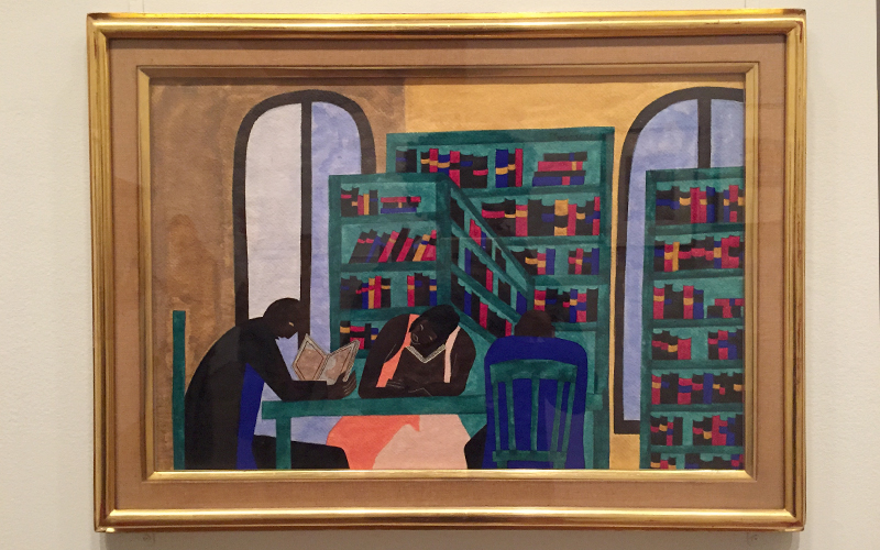 Jacob Lawrence's 'The Libraries Are Appreciated'