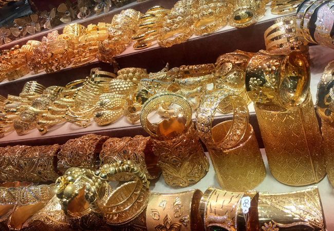 Gold everywhere at the Gold Souk