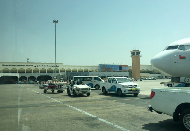 Arriving at the Muscat Airport