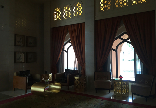 The reception area of the Al Husn