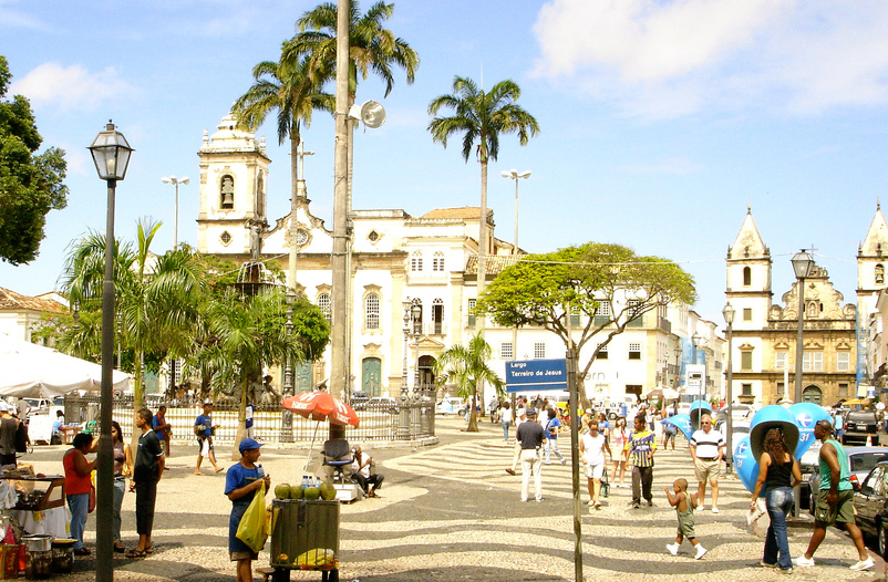 The main town square of Salvador.