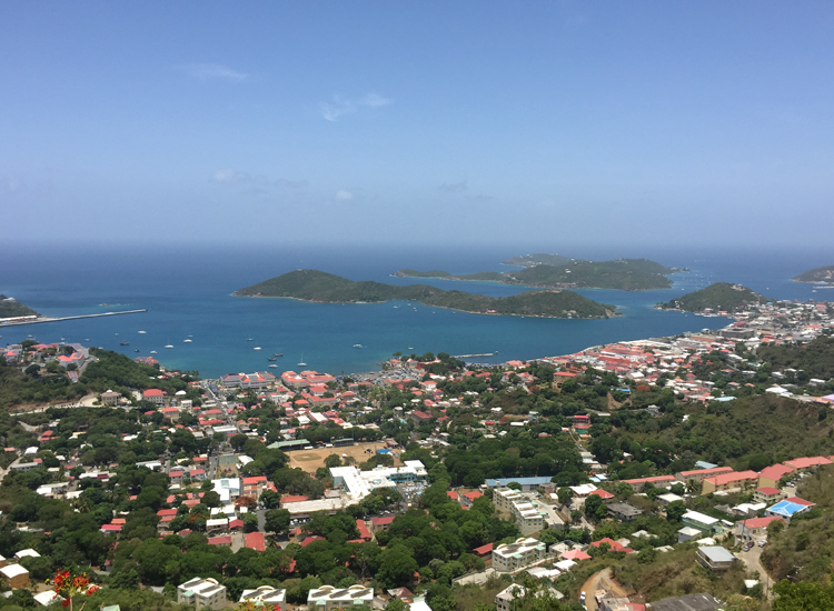 A view of Charlotte Amalie Harbour