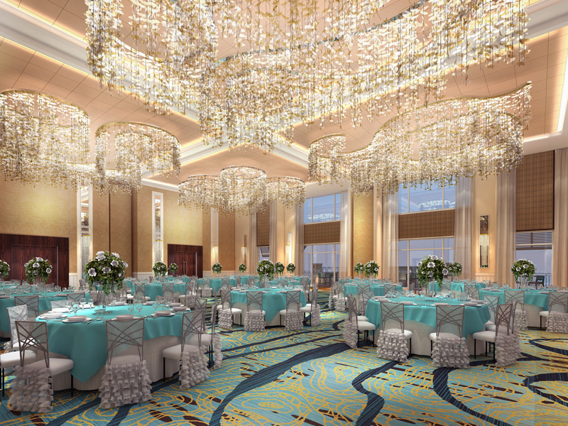 The 6,000 sq ft ballroom, with it's own private courtyard