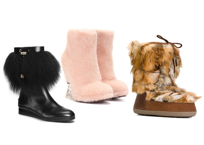 Michael Kors Fur Trim Leater Boots; Fendi Fur Wedge Boots; DSquared2 After Ski Boots