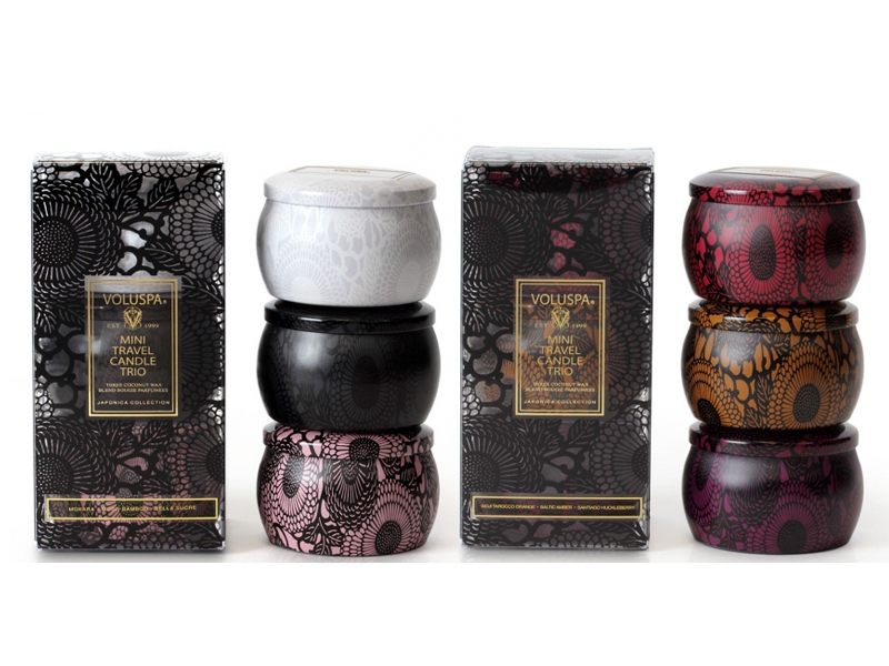 Japonica Mini Travel Candle Trios