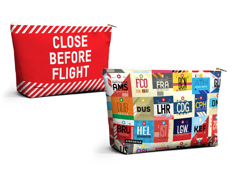 Airportag Travel Inspired Accessory Pouches
