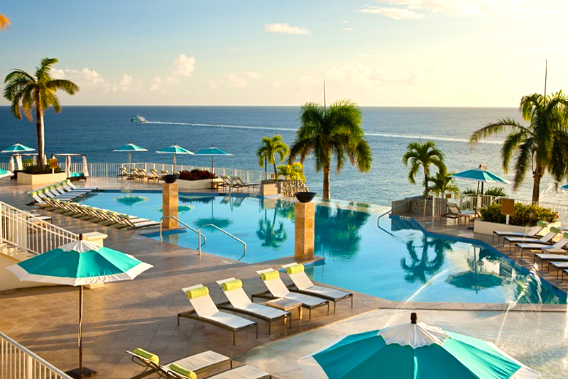 One of the many pools at the Frenchman's Reef + Morning Star Marriott Beach Resort