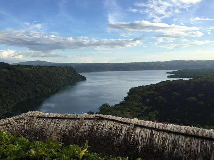 The view from a restaurant terrace at Laguna de Apoyo, Nicaragua