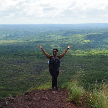 On the top of the active Masaya Volcano in Masaya, Nicaragua