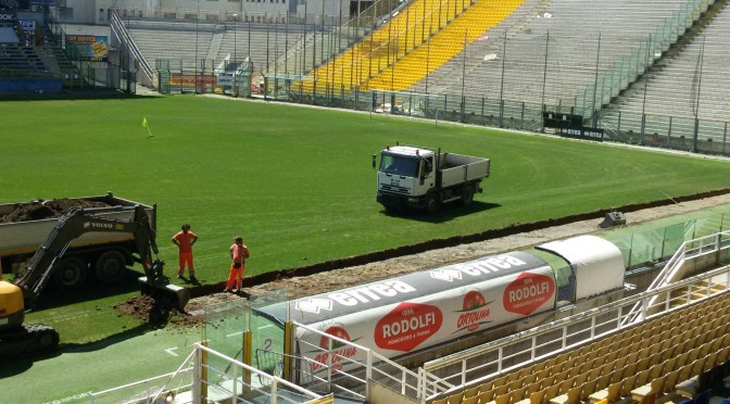 Tardini new turf pitch