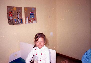 Vinnarbilden på prinsessan Victoria, 5 år.