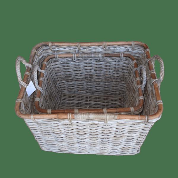 Set Of 2 Rectangle Baskets KG315016034