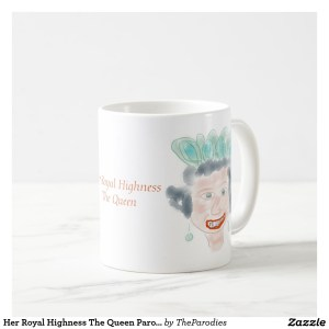 E II R Queen Elizabeth Parody Coffee Mug Center Right View