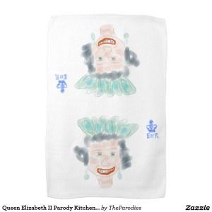 Queen Elizabeth II Parody Kitchen Tea Towel
