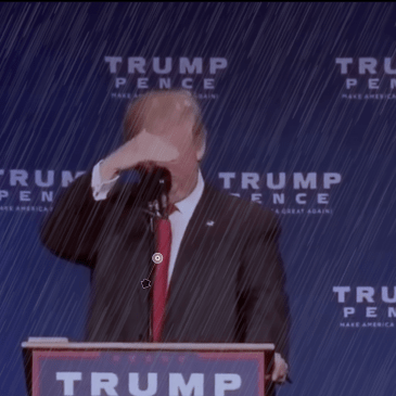 OMG – IT'S GONNA RAIN ON THE PRESIDENT