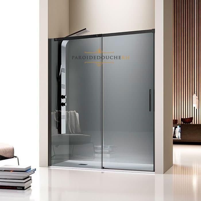 paroi de douche en niche porte coulissante 8 mm rh1226 ng