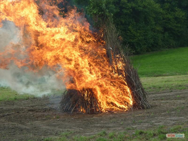 Le feu est démarré !