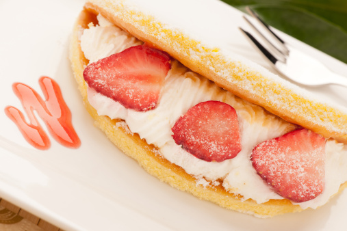 pancakes fragola e panna