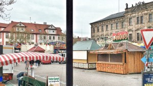 Life in Franconia as seen through a window of Kunstpalais Erlangen which shows an exhibition by Juergen Teller   Photo: Norbert Bayer