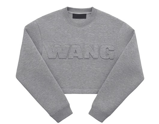 Alexander Wang pour H&M -Le Sweat Cropped Néoprène, Version Gris Moyen $59,95