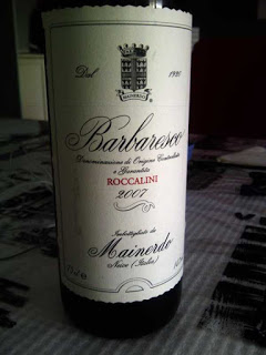 Degustazione: Barbaresco Roccalini 2007, Mainerdo. Confronto con sommelier AIS.