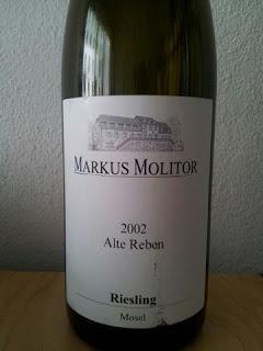 Degustazione: Riesling Alte Reben 2002, Markus Molitor