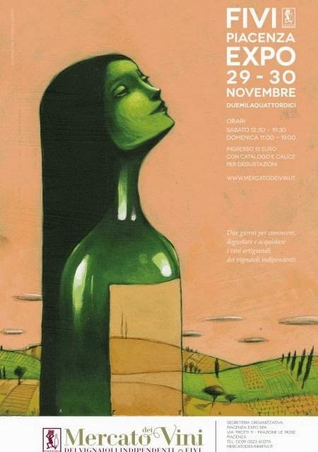 Mercato dei vini al Piacenza Expo 2014. Un evento enorme, in crescendo.