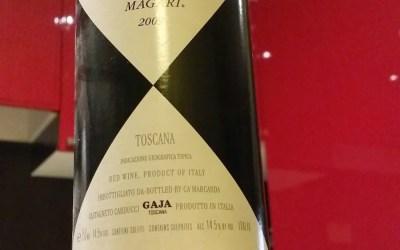 Magari 2009 Ca' Marcanda. Je suis Gaja, Le Roi.