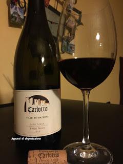 Carlotto Pinot nero 2013. Stretta è la foglia.