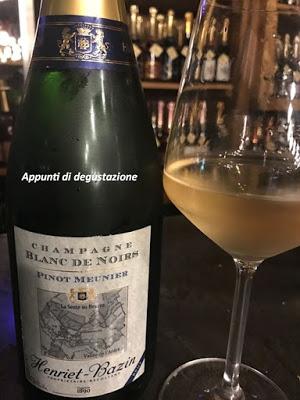 Henriet-Bazin Brut Blanc de Noirs Pinot Meunier. Vincere facile.