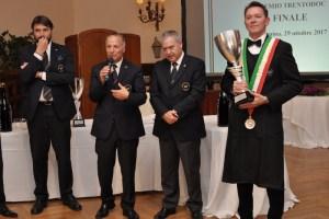 Roberto Anesi durante la premiazione