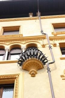 Coppedè, dettaglio balcone
