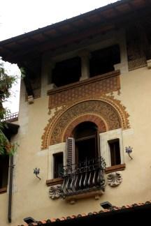 Villa delle fate, dettaglio finestra, quartiere Coppedè