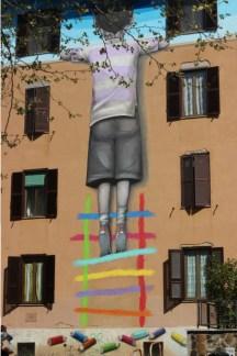 il bambino redentore, street art Tor Marancia big city life