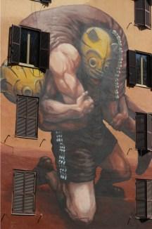 Il peso della storia, street art Tor Marancia big city life