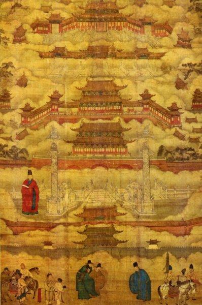 Pechino, in un dipinto della dinastia Ming (immagine via Wikipedia)