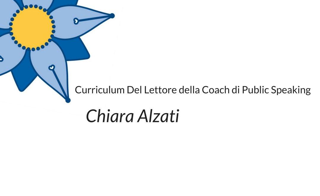 Curriculum del lettore di Chiara Alzati: le letture di una Coach di Public Speaking