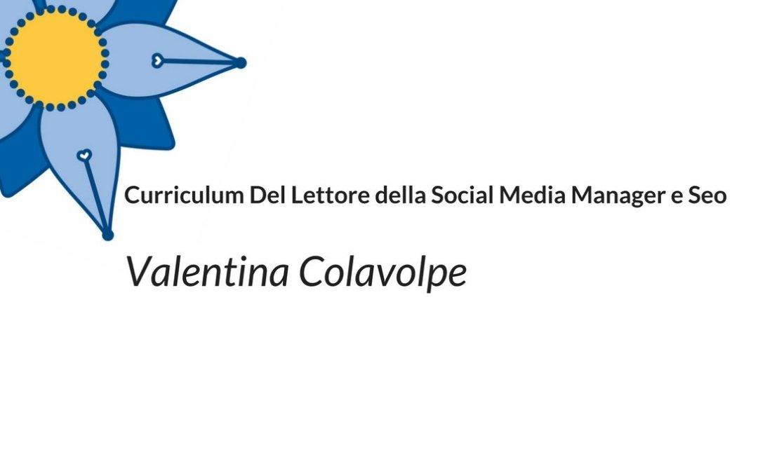 Curriculum Del Lettore di Valentina Colavolpe: lettera da madre a figlia