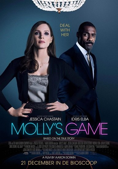 Molly's Game poster (immagine via Pinterest)