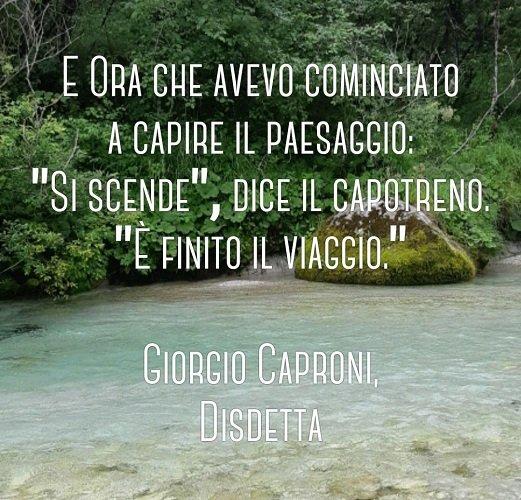 Disdetta di Giorgio Caproni: il Congedo di Mindscapes