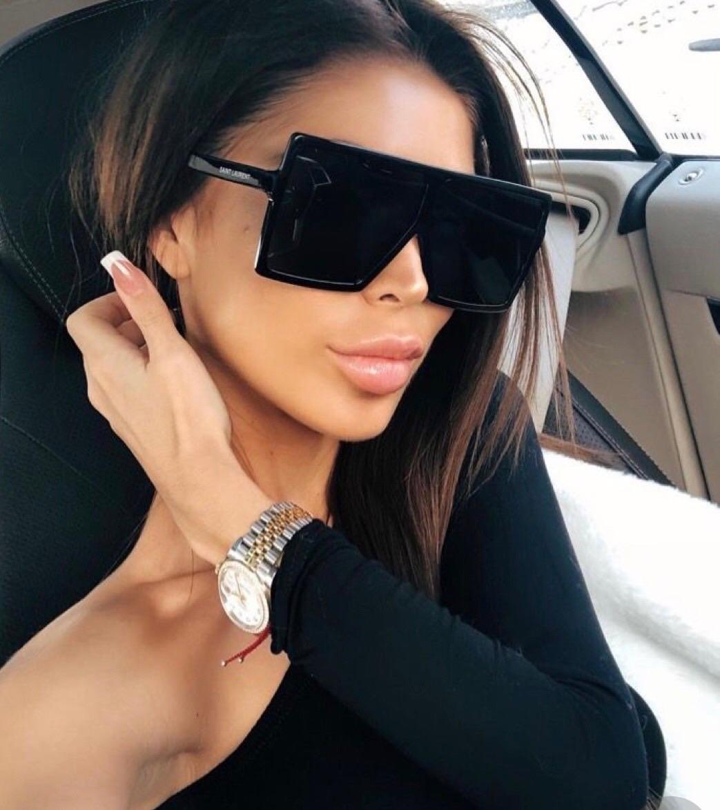 Lea oversized fekete női napszemüveg